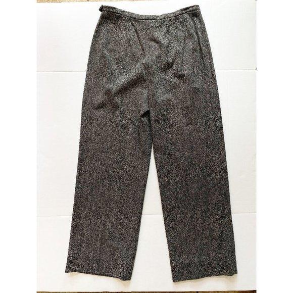 MaxMara Pants - MaxMara Wool Side Button Trouser Pants Size 12